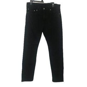 Levi's 502 Men's Tapered Leg Jet Black Jeans W33